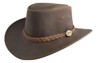 £21.22 • Buy Australian Western Style Real Leather Mens Distressed Bush Hat Leather Outback