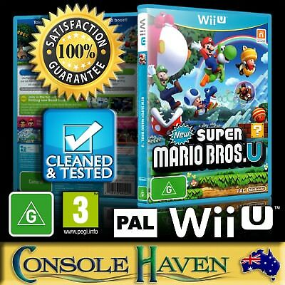 AU29.90 • Buy (Wii U Game) New Super Mario Bros. U (G) (Platformer) PAL, Guaranteed, Cleaned