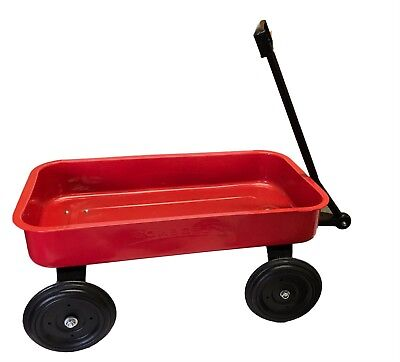 AU49.96 • Buy Red Vintage Metal Wagon 51cm Classic Toy Long Reach Handle Kids Toys Indoor New