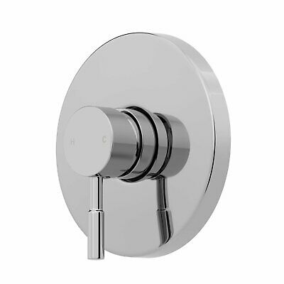 Modern Shower Mixer Valve Only Brass Round Concealed Chrome Single Stick Lever • 39.99£