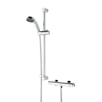 Bristan Zing Thermostatic Cool Touch Shower Bar Valve Exposed Mixer Handset • 67.99£
