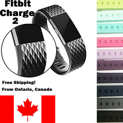 $ CDN7.99 • Buy For Fitbit Charge 2 Band Replacement Wrist Strap Silicone Smart Watch Band S-L