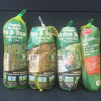 £7.50 • Buy Pea And Bean Support Fruit Crop Protection Net Netting Vegetable Garden