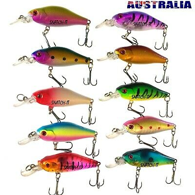 AU18 • Buy 10 Redfin & Bream Freshwater Fishing Lures, Flathead, Bass, Trout,Cod Tackle