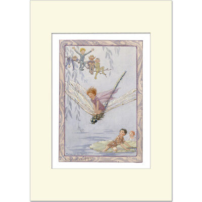 Dragonfly - Margaret Tarrant - Medici Mounted Print • 21£