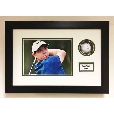 Golf Ball Display Case 3d Frame For Signed Golf Ball, Photo And Title • 35£