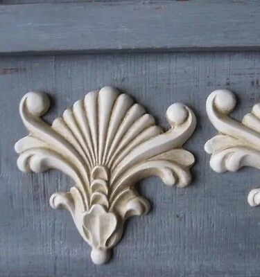 AU20 • Buy 4x Shabby Chic Corner French Furniture Moulding Furniture Applique Carving Onlay