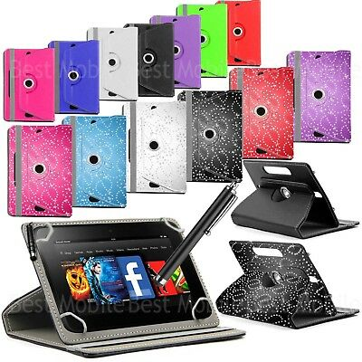 For 9.7  10  10.1  Android Tablet PC New 360 Universal Case Folio Leather Cover  • 5.99£