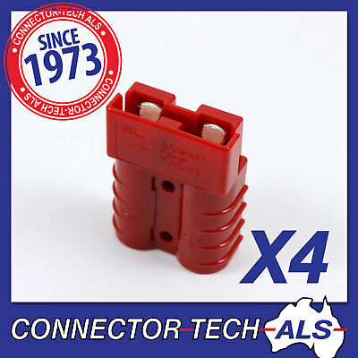 AU17 • Buy 4X GENUINE Anderson 50 AMP RED Plugs 4X4 Caravan Camping Solar Car #6331G1X4