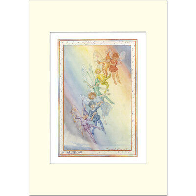 Rainbow Fairies - Margaret Tarrant - Medici Mounted Print • 19.50£