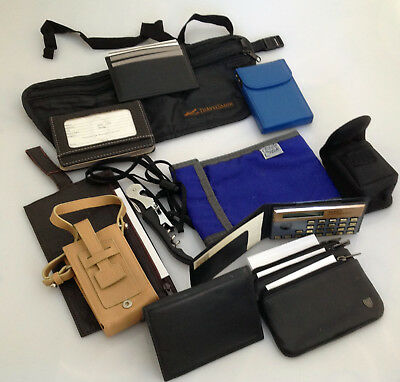 AU75.77 • Buy Lot Of TRAVEL ACCESSORIES 12 Items: Fone, Credit, Biz Card Cases Fanny Pack Etc.