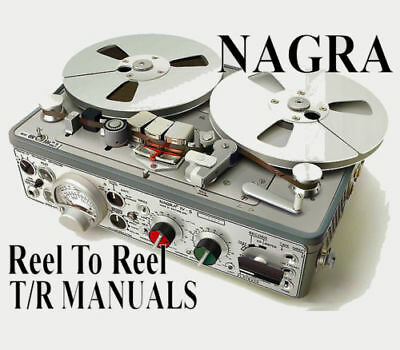 ☆ NAGRA Reel To Reel & Discontinued Tape Recorder MANUALS On DVD-Rom Or Download • 3.45£