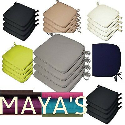 £18.99 • Buy Luxury Removable Tie On Chair Seat Cushions Pads Garden Dining Kitchen