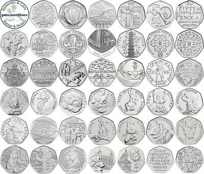 Various Uk Gb Commemorative 50p Fifty Pence Coins - Select From List 1998-2021 • 3£