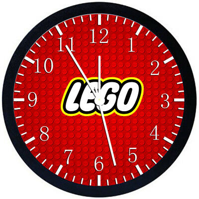 Lego Black Frame Wall Clock Nice For Decor Or Gifts Z63 • 14.69£