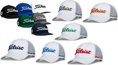 New Titleist Golf Tour Mesh Snapback Hat Pro V1 Color Adjustable White Grey  • 27.97  be41b301fbe7