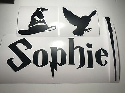 £3.50 • Buy Personalised ANY NAME Harry Potter Style Name Vinyl Decal Sticker Set Wall Etc