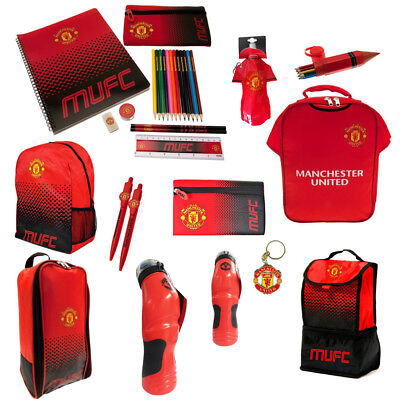 Manchester United FC Back To School Gym Backpack Boot Bag Bottle For Everyone  • 10.79£