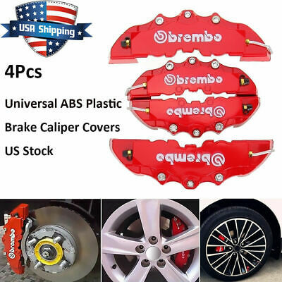$12.99 • Buy 4PCS 3D Red Car Universal Disc Brake Caliper Covers Front & Rear Accessories Set