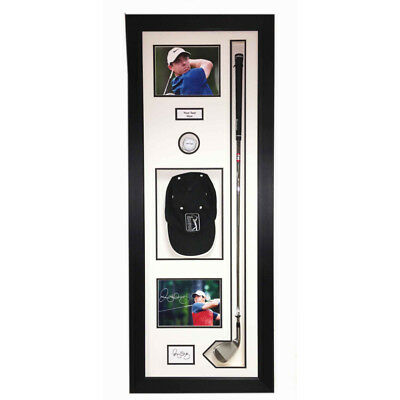 "MEMORABILIA GOLF BALL DISPLAY CASE FOR GOLF CLUB, BALL, CAP,  2 PIC 47x18"" Inch • 99.99£"