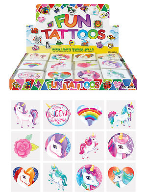 £2.09 • Buy 72 Unicorn Temporary Tattoos - Pinata Toy Loot/Party Bag Fillers Wedding/Kids