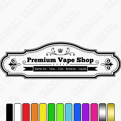AU26.78 • Buy Vape Shop Window Sign, High Quality Adhesive Vinyl Wall/window Vape Shop Decal