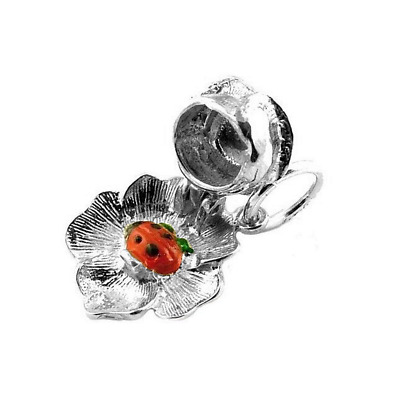 Sterling Silver Opening Ladybird In Rose Charm  • 10.99£