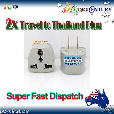 AU12.99 • Buy 2x Power Plug Australia Travel To China, Japan, Thailand, Mexico Adapter 2 Pin