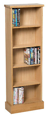 Oak DVD CD Storage Rack | Wooden Shelving Tower/Holder/Stand/Unit With 5 Shelves • 99.99£