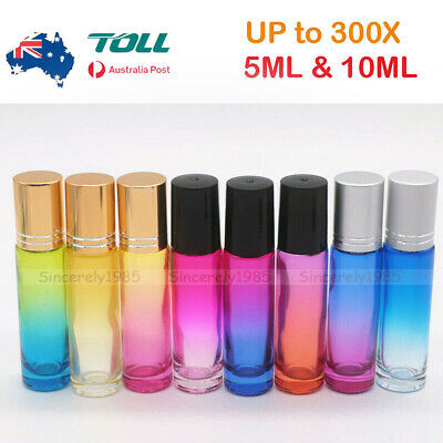AU21.99 • Buy 5X ~ 250X 5ML 10ML THICK Glass Roll On Bottles Steel Roller Ball Essential Oils