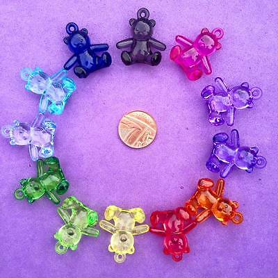 12 X Teddy Bear Charms, Crafts, Key Rings, Favours, Jewellery Making • 1£