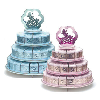 £23.95 • Buy 3 Three Tier Cake Stand With 48 Cake Boxes Wedding Party Christening