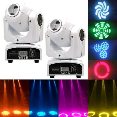 2PCS 30W Spot GOBO Stage Lighting RGBW LED Moving Head DMX Disco DJ Party Light • 104.99£