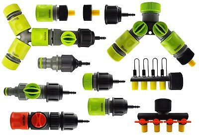 13/16 Mm Irrigation Pipe/garden Hose To 4/6 Mm Micro Irrigation Pipe Connectors • 3.99£