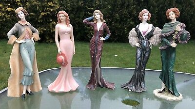 Beautiful Regal Collection Of 5 China Elegant Lady Figures • 120£