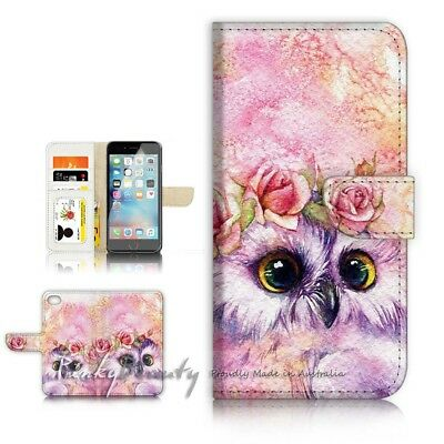 AU12.99 • Buy ( For IPhone 6 / 6S ) Wallet Case Cover P21412 Cute Owl