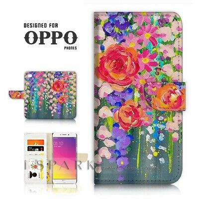 AU12.99 • Buy ( For Oppo A57 ) Wallet Case Cover P21475 Flower