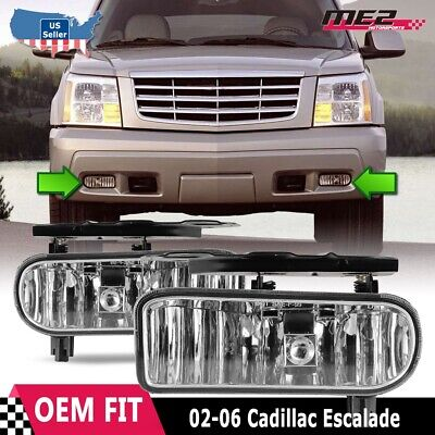 $29.57 • Buy For Cadillac Escalade 02-06 Factory Bumper Replacement Fit Fog Light Clear Lens