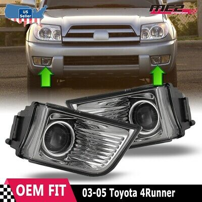 $36.12 • Buy For Toyota 4Runner 03-05 Factory Bumper Replacement Fit Fog Lights Clear Lens