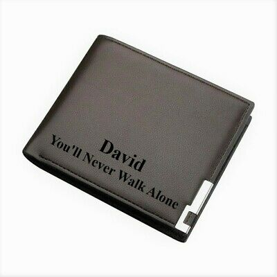 Mens Personalised Wallet You'll Never Walk Alone Liverpool FC Football Fans Gift • 12.99£