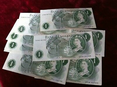 £7.99 • Buy 1960's-1970's BANK OF ENGLAND ONE POUND £1 NOTE CRISP 100% GENUINE