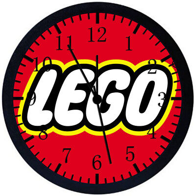 Lego Black Frame Wall Clock Nice For Decor Or Gifts W430 • 14.69£