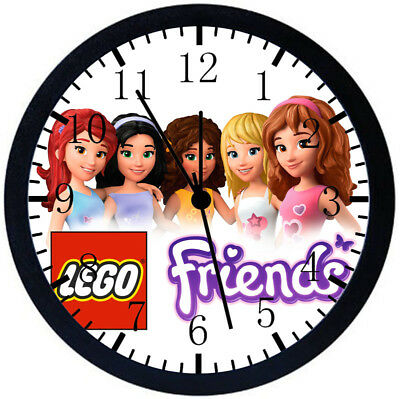 Lego Friends Black Frame Wall Clock Nice For Decor Or Gifts Z186 • 14.69£