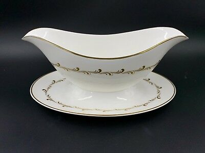$ CDN29 • Buy Royal Doulton Rondo Gravy Boat With Attached Saucer Bone China England