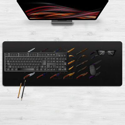 AU17.85 • Buy Weapon Csgo Knife Mouse Pad Large Size Laptop Mat Mousepad 80cm*30cm For CsGo