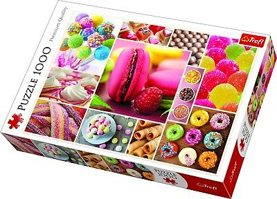 £8.99 • Buy Trefl 1000 Piece Adult Large Candy Sweets Pastries Collage Jigsaw Puzzle NEW