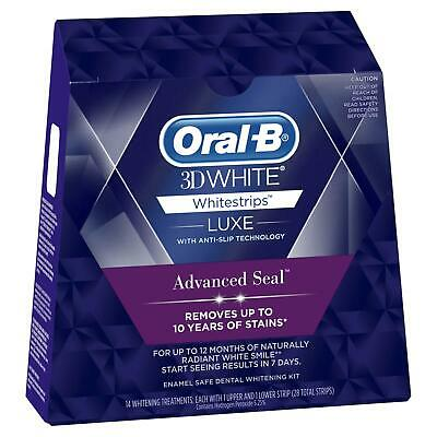 AU34.44 • Buy Oral-B 3D White Luxe Advance Seal 14 Whitening Treatments Teeth Stain Remover