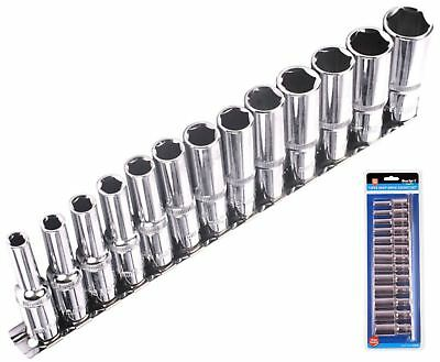 Bluespot Metric Deep Socket Set/ Long Reach Sockets On Rail 3/8  Drive 6-19mm • 13.99£