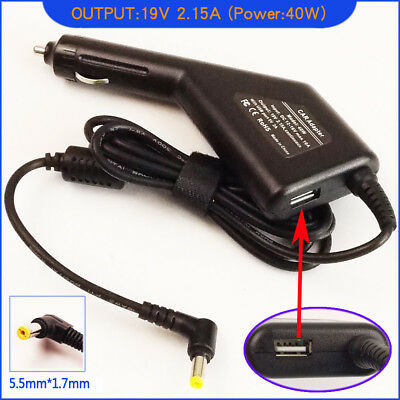 Laptop DC Adapter Car Charger & USB For Acer ADP-40TH Acer ADP-40TH A • 19.92£