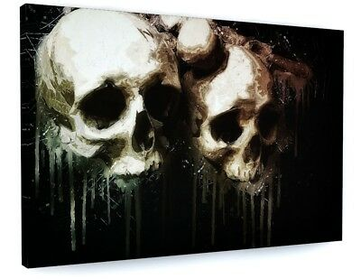 Abstract Gothic Skulls Street Art Canvas Picture Print Wall Art #4384 • 25.23£